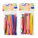 Balloon Twist N Shape 20pc W/pump 11.8inl Astclrs/party Pbh