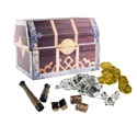 Party Favors Pirate W/treasure Box Pdq 8asst In Mesh Bag/hangtg
