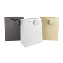 Gift Bag Glittered Paper Large 3ast Grey/gold/silver Upc Label 10.5 X 13 X 5.5in