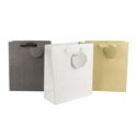 Gift Bag Glitter Paper Mediumsz 8.5x10x4 Grey/silver/gold Upc No Mess Glitter Infused Paper