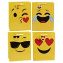 Gift Bag Lg Emoticon 4ast Ht/w-jhook