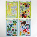 Window/wall Cling Animal Fun 4as Zoo/frog/mermaid/toucan