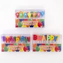 Birthday Candle 13pc Pick Happy Birthday 3ast Styles Party Pvc Box