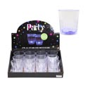 Shot Glass Light Up In 12pc Pdq Clear Plastic New Year Label
