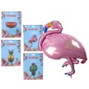 Balloon Foil 4ast Summer Theme Flamingo/melon/cactus/pineapple Pb Insert Card