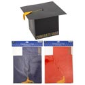 Graduation Cap Shaped Card Holder 3ast Color W/yellowtassel