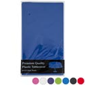 Tablecover 84in Round Pe Plastic 6ast Solid Colors Prtd Pb