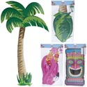 Luau Party Jointed Cutout 3ast 36-60in Tiki/palm/flamingo Pbh