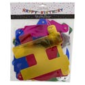 Banner Birthday Jumbo Jointed Foil 9ft X 8in Party Pbh