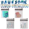 Banner Party Iridescnt Diy 12ast Hbd/lets Party/awesome/best Day 3clrs/shapes/party Pbh