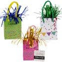 Balloon Weight B-day Party 3asst Gift Bag Shape/tinsel Trim  W/ht 5 X 2.64 X 1.65in