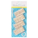 Toothpick Holders 4pk W/90picks Crystal-look Kitchen Blistercard