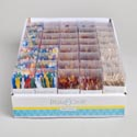 Party Picks For Appetizers 3ast Plastic/frill/wooden In 40pc Pdq Acetate Box B&c Artwork