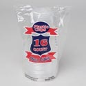 Plastic Cups 16pk 16oz Clear Disposable W/printed Polybag