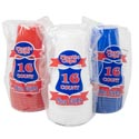 Cups Plastic 16pk 16oz Solid Red/white/blue Printed Pb