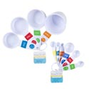 Meas Spoon 6pk & 4pk Cup Set **white W/color Trim Kitchen Ht Seperate Upc's