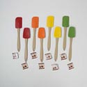 Spatula Silicone 2styles Flat & Spoon Style 4 Fall Colors Kitchen Hangtag