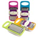 Grater Handheld W/storage Cup 7x3.5in 4 Summer Colors/sleeve