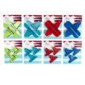 Bag Clips 2/3pk 4asst Summer Colors Tie On Card ** No Amazon Sales **