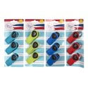 Bag Clip Magnetic 3pk Soft-grip **4ast Summer Colors Tie Card ** No Amazon Sales **