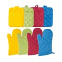 Oven Mitt 12in & Potholder 7x9in 4asst Fall Colors/ea W/hangtag