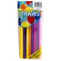 Straws 30ct Shake & Smoothies 9in Neon Colors Bpa Free Party Pbh