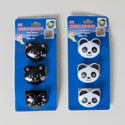 Bag Clips Novelty Animals 3pk Cat/panda Kitchen Tcd
