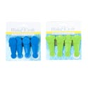 Bag Clip 4pk 2asst 3in Plastic Daisy/butterfly Tip'd Tieon Card