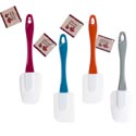 Spatula Silicone Flat/spoon 10in/4ast Fall Clr Handle/harvht