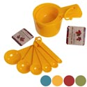Measuring Cup 4pk And Spoon 6pk Plastic Fall Colors Harvest/ht