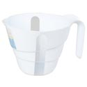 Measuring Cup Plastic White 4cup W/handle Kitchen Label 10dl/32oz/946ml
