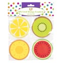 Coasters Paper 4ast Fruit Design 8pk On 12pc Mdsgstrip/summer Pbh