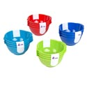 Mini Bowl 4pk W/antislip Base 4 Summer Clrs/wrap Sticker Upc Capacity: 5 Oz