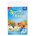 Produce Fresh Bag 10pk 15x9.8in/blue/12pc Merchstrip Oppbag Insert/pbsleeve