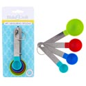 Measuring Spoons 4pc Set Stnls W/color Pp Cup/b&c Tcd