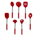 Kitchen Tool 7ast Silicone Head And Grip W/tube Handle Red/ht