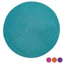 Placemat Round Spring Colors 4ast Solids 15in Dia Pp/fiber B&c Ht/jhook