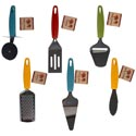Kitchen Gadgets 6ast W/plastic Handle 4ast Fall Colors/harv Ht