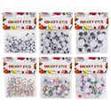 Craft Googly Eyes 6 Sizes Black Or Multi Color 33-300ct Craft Pbh