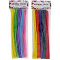 Chenille Stems 50ct 12in 2ast Pastel Or Brites Craft Pbh