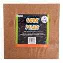 Natural Cork Tiles 2pk 12x12in Shrink W/insert