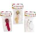 Bird Ornament Clip On 6in 3asst W/feather/bead/gem Trim Craft Pbh  Gold/white/red