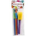 Artist Paint Brushes 5pc Mixed 3ast Size Plastic Craft Pbh