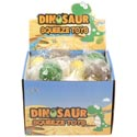 Dinosaur Egg Squeeze Toy W/baby Dino Inside 4ast Clr 36pc Pdq Pb/label Stklt