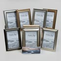 Photo Frame 4x6 6ast Mixed Plastic Styles In 12pc Pdq/shrk Black/silver/gold