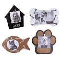 Photo Frame Pet 4ast W/clip Dog House/bone/paw/fish 4x4 Or 4x6in Photo Mdf
