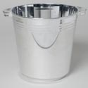 Ice Bucket Silver Plated 201 Oz 5.9l Plst 8.5w X 8.75h Upc Lab