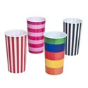 Tumbler 16oz Printed Pp 4ast Stripes W/upc Label Dishwasher Safe