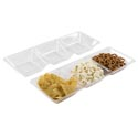 Serving Tray 3-section 16 X 6 In Clear Plstic W/upc Label