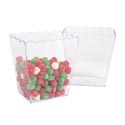 Scalloped Plastic Container Clear W/upc Label 5 X 3.75 X 6in